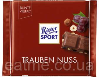 Ritter Sport Молочный шоколад с изюмом и фундуком
