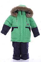 Зимний костюм для мальчика Классика зеленый