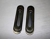 Ручки врезные на разд.дверь Бронза 96мм