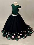 Длинное платье со шлейфом Элизабет на 4-5, 6-7 лет, фото 5