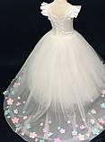 Длинное платье со шлейфом Элизабет на 4-5, 6-7 лет, фото 4