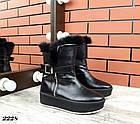 Женские зимние черные ботинки, из натуральной кожи  36 39 ПОСЛЕДНИЕ РАЗМЕРЫ, фото 2
