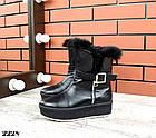Женские зимние черные ботинки, из натуральной кожи  36 39 ПОСЛЕДНИЕ РАЗМЕРЫ, фото 4
