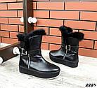 Женские зимние черные ботинки, из натуральной кожи  36 39 ПОСЛЕДНИЕ РАЗМЕРЫ, фото 5