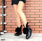 Женские зимние черные ботинки, из натуральной кожи  36 39 ПОСЛЕДНИЕ РАЗМЕРЫ, фото 6