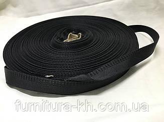 Тесьма для брюк в рулоне 50 метро цвет черный