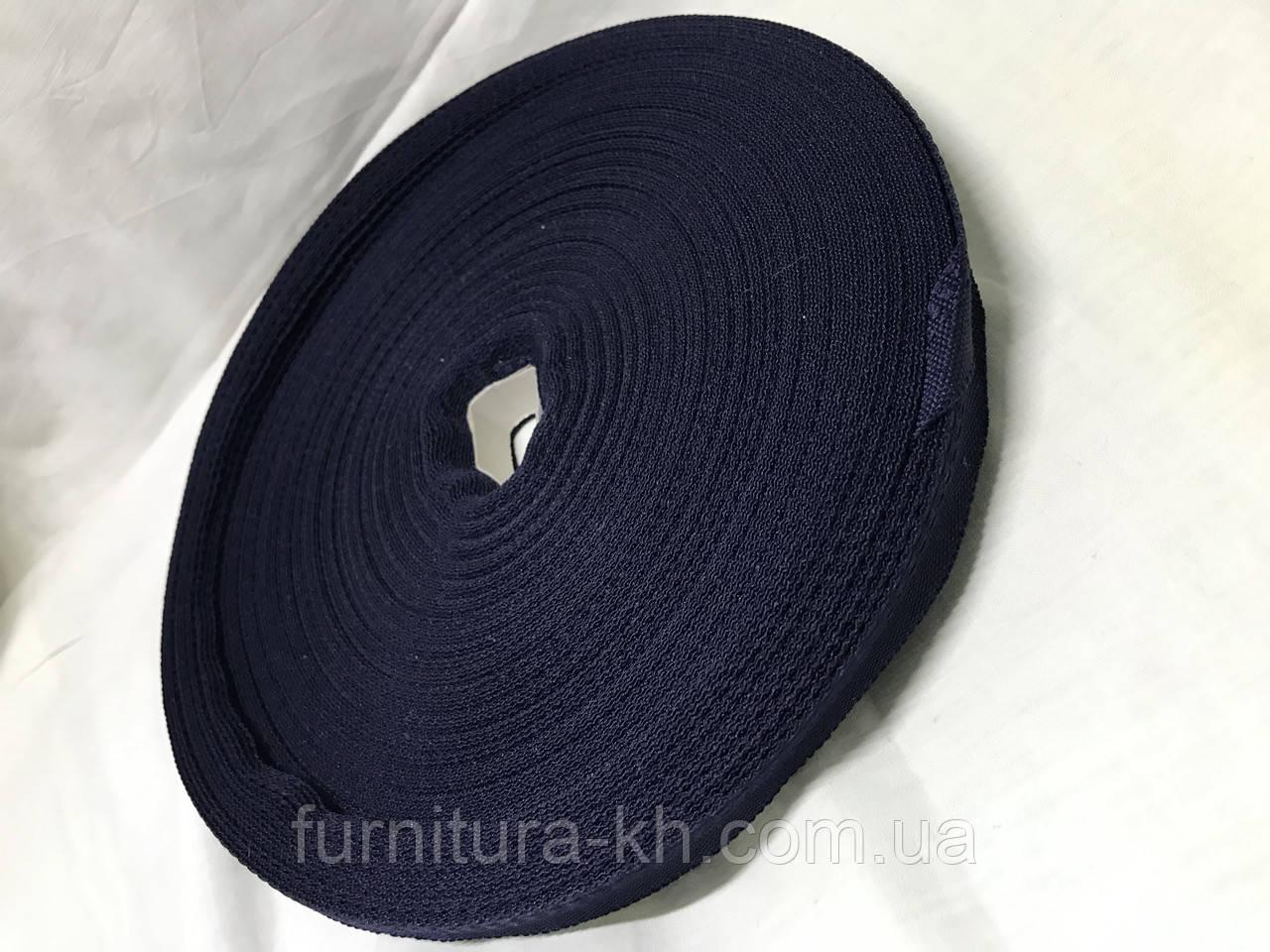 Тесьма для брюк в рулоне 50 метро цвет  т-синий
