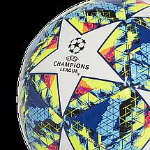 Мяч футбольный Adidas Finale 19 Capitano №4 DY2553 Белый, фото 3