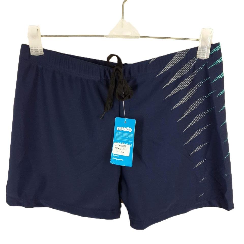 Плавки шорты мужские Волны 9063 синие на наши размеры 46