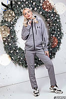 Женский утепленный спортивный костюм / термокомпрессионная на флисе / Украина 47-2279