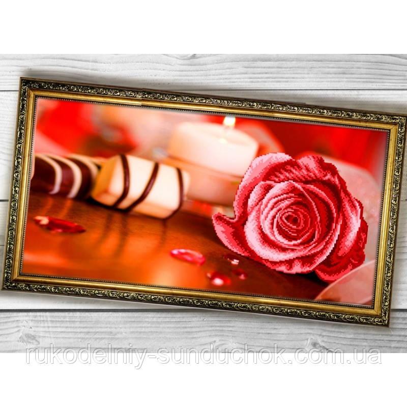 Схема для вышивки бисером Бисер-Арт Розовая роза (011)