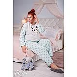 Тепла піжама жіноча Турецька махра Розмір 48 50 52 54 56 58, фото 4