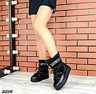 Женские зимние черные луноходы, из натуральной кожи/замши 36 37 41  ПОСЛЕДНИЕ РАЗМЕРЫ, фото 3