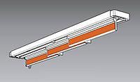 Карниз для панельных штор 150 см, 3 ламели, ручной
