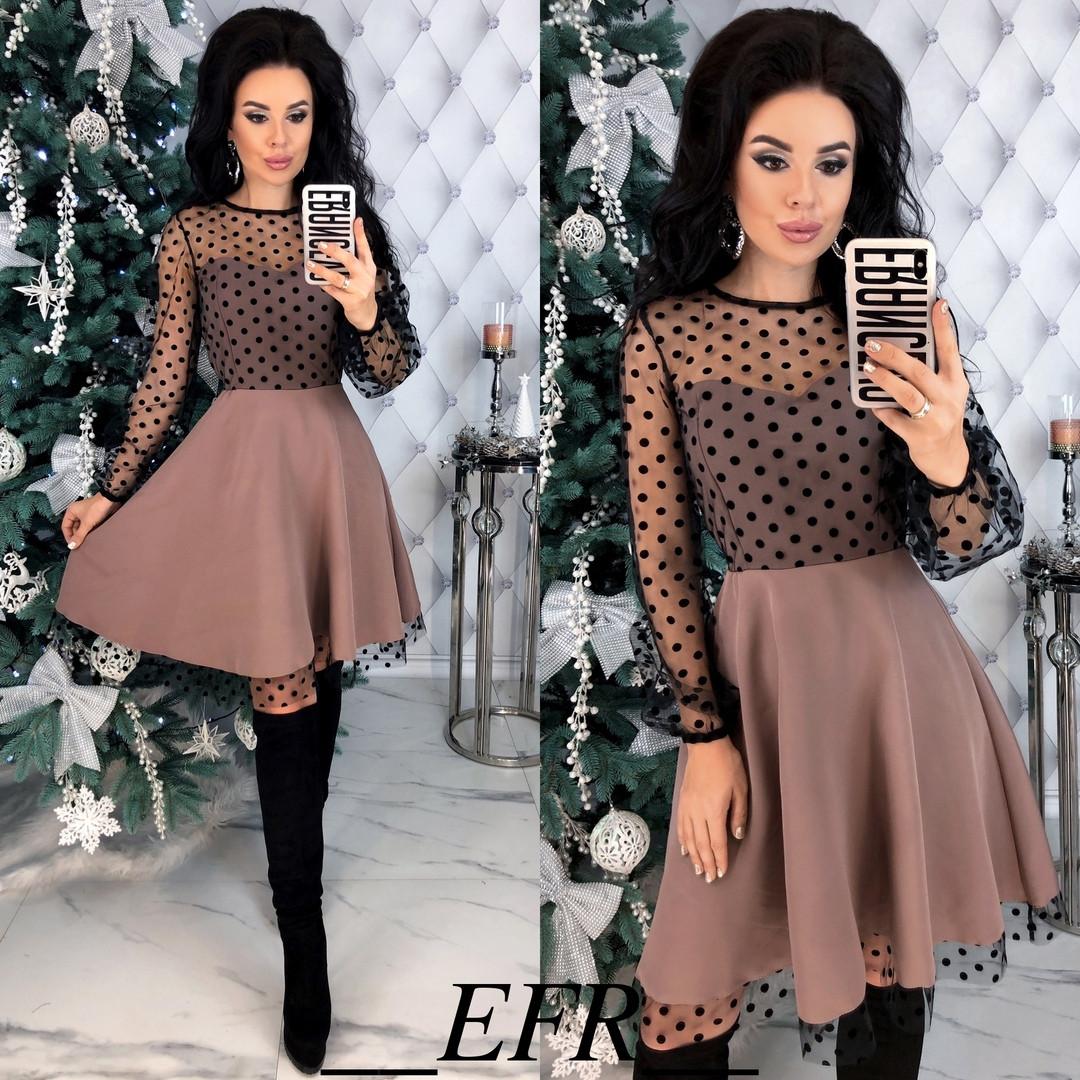 Женское нарядное платье в расцветках