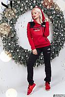 Женский утепленный спортивный костюм / трехнитка с начесом / Украина 47-2289, фото 1