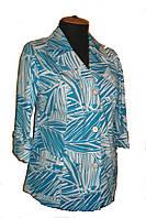 Летний  яркий пиджак со стреч-котона ,с накладными карманами 70-4