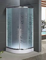 Кабина душевая полукруглая 9001-Т (90х90х195)/ стекло TATIANA/ поддон - 15см. Безкоштовна доставка.