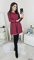Ангоровое платье широкого покроя клеш с люрексовой нитью (р. 42-48) 1089 РА, фото 1