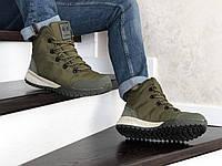 Тёплые мужские высокие ботинки из натурального нубука с 40 по 46 размер
