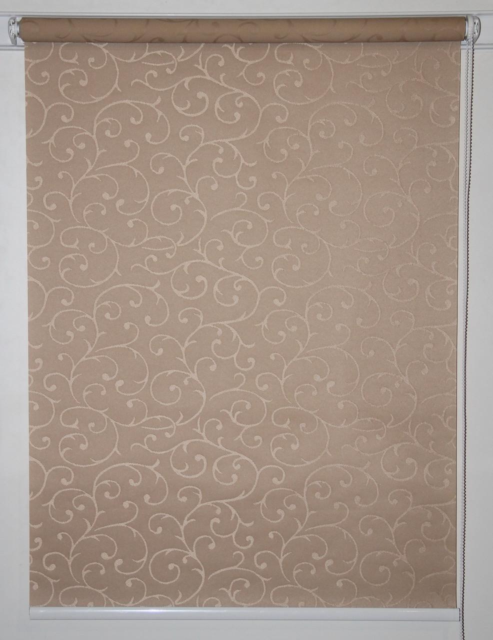 Готовые рулонные шторы 300*1500 Ткань Акант 1827 Коричневый