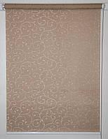 Рулонная штора 350*1500 Акант 1827 Коричневый, фото 1