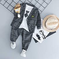 Нарядный костюм для мальчика серый