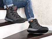 Тёплые мужские высокие ботинки из натурального нубука с 40 по 46 размер, фото 3