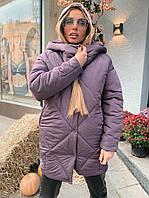 Пуховик Doratti Off женский теплый с капюшоном оверсайз крой разные цвета Gdor1093