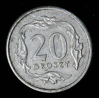 Монета Польши 20 грошей 1997 г., фото 1
