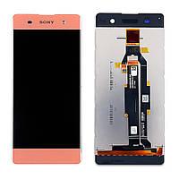 Дисплей (LCD) Sony F3111 Xperia XA | F3112 | F3113 | F3115 | F3116 с тачскрином, розовый, Rose Gold ориг.