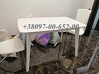 Стол кухонный Белый не раскладной Модерн БУК с МДФ 120х75 СО-293