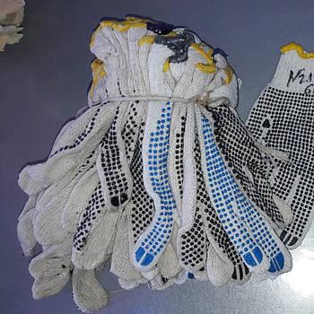 Перчатки хб микс класс A