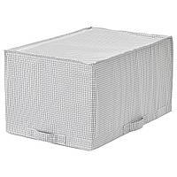 IKEA Сумка для хранения, белый/серый, 34x51x28 см