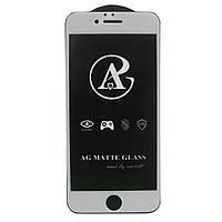 Матовое защитное стекло AG Matte Full Glue для Apple iPhone 6 Белый