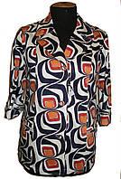 Летний  яркий пиджак со стреч-котона ,с накладными карманами 70-2, фото 1