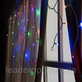 """[ОПТ] Внутрішня новорічна гірлянда-штора """"Бахрома"""", 480LED, 1,5 х 2м (біла, кольорова)"""