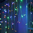 """[ОПТ] Внутрення новогодняя гирлянда-штора """"Бахрома"""", 480LED, 1,5 х 2м (синяя, цветная), фото 5"""