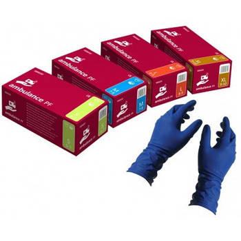 Перчатки латексные медицинские нестерильные Ambulance PF размер S