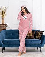 Пижама  42.44,46,48,50  мягкий плюш  , повязка в комплекте.