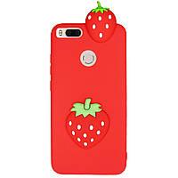 Чехол Cartoon 3D Case для Xiaomi Mi A1 / Mi 5X Клубничка, фото 1