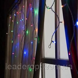 """[ОПТ] Внутрішня новорічна гірлянда-штора """"Бахрома"""", 140LED, 3 х 0.7 м (біла, кольорова)"""