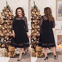 Женское  нарядное платье размер 50-56 СВ1050 черный