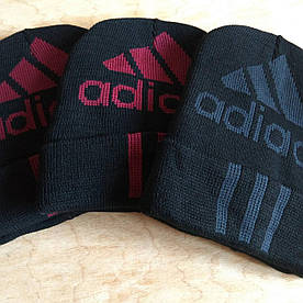 "Шапка зимняя унисекс в стиле ""Adidas"""