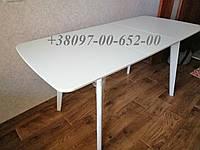 Стол кухонный Белый раскладной Модерн БУК+МДФ 120(160)х75 СО-293.3