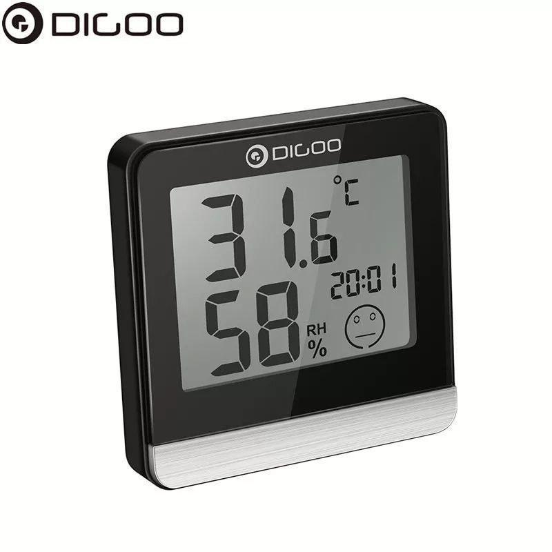 Digoo DG-BC20 Часы. Термометр. Гигрометр. Измерение температуры и влажности в ванной, спальне, комнатах