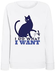 Женский свитшот I Do What I Want (белый)