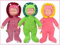 Кукла беби борн Львёнок-Сплюшка 40 см. Мягкая игрушка-сплюшка львёнок, бордовый