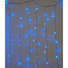 """[ОПТ] Внутрішня новорічна гірлянда-штора """"Бахрома"""" з мерехтінням, 320LED, 2 х 2м, (синій, холодний білий), фото 4"""
