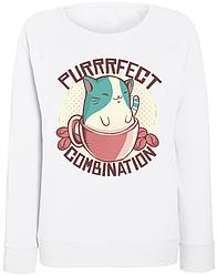 Женский свитшот Purrrfect Combination (белый)